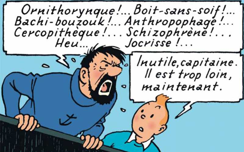 insultes capitaine haddock